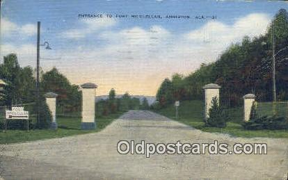 Fort McClellan - Anniston, Alabama AL Postcard