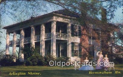 Arlington Shrine - Birmingham, Alabama AL Postcard