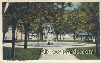 City Park - Demopolis, Alabama AL Postcard