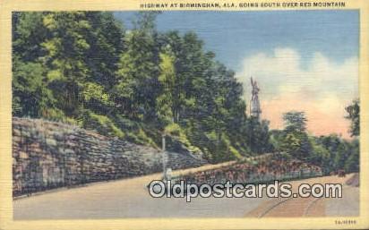 Red Mountain - Birmingham, Alabama AL Postcard