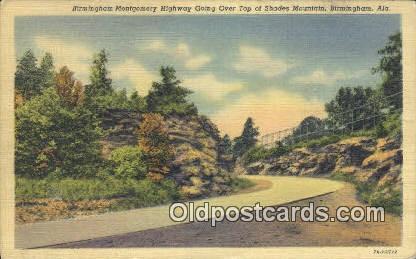 Shades Mountain - Birmingham, Alabama AL Postcard
