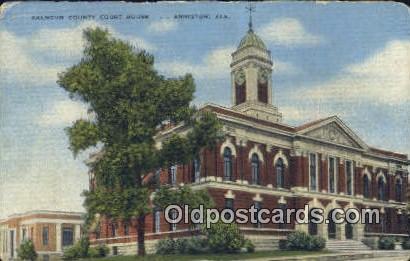 Calhoun County Court House - Anniston, Alabama AL Postcard