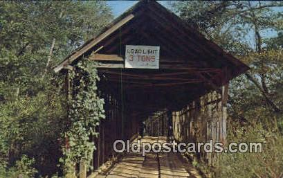 Duck Springs Covered Bridge - Keener, Alabama AL Postcard