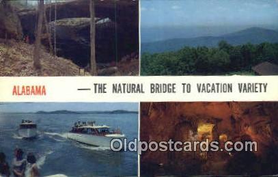 Besides Natural Bridge - Guntersville Lake, Alabama AL Postcard
