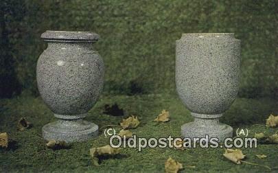 Granite Vases - Fort Payne, Alabama AL Postcard