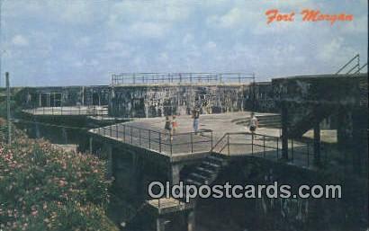 Mobile Bay - Fort Morgan, Alabama AL Postcard
