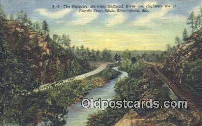 The Narrows, Florida Short Route - Birmingham, Alabama AL Postcard
