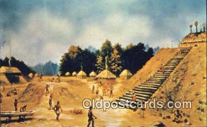 Mound Park - Moundville, Alabama AL Postcard