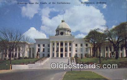 Cradle of the Confederacy - Montgomery, Alabama AL Postcard