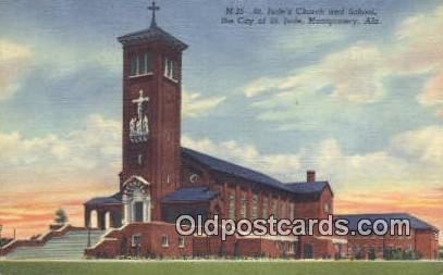 St Jude's Church & School - Montgomery, Alabama AL Postcard