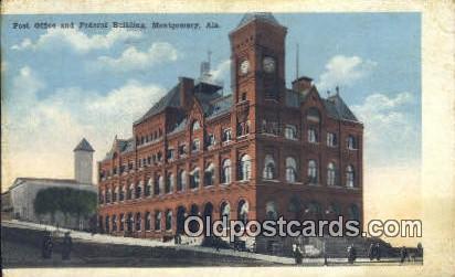Post Office & Federal Building - Montgomery, Alabama AL Postcard