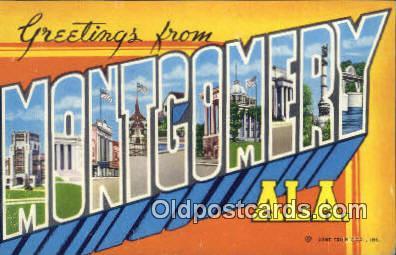 Montgomery, AL     ;     Montgomery, Alabama Postcard