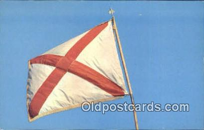 State Flag - Misc, Alabama AL Postcard