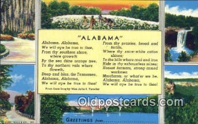 Greetings from, Alabama     ;     Greetings from, AL Postcard