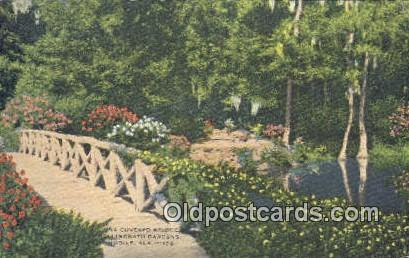 Covered Bridge, Bellingrath Gardens - Mobile, Alabama AL Postcard