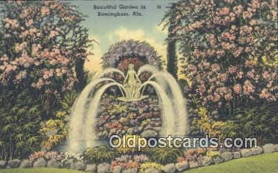 Beautiful Garden - Birmingham, Alabama AL Postcard