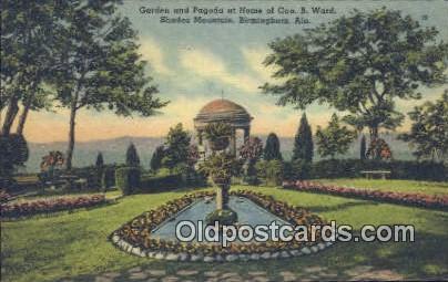 Home of Geo B Ward, Shades Mountain - Birmingham, Alabama AL Postcard
