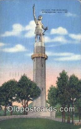 Vulcan, Iron Man - Birmingham, Alabama AL Postcard