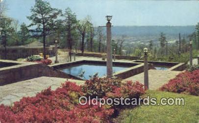 Azaleas in bloom, Vulcan Park - Birmingham, Alabama AL Postcard