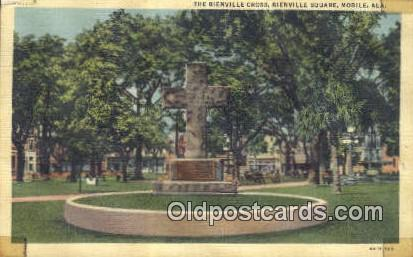 Bienville Cross, Square - Mobile, Alabama AL Postcard