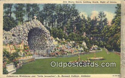 Ave Marie Grotto - St Bernard, Alabama AL Postcard