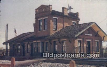 Stevenson Railroad Depot Museum - Alabama AL Postcard