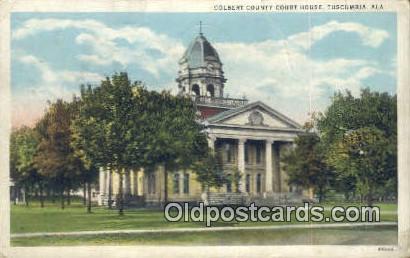 Colbert County Court Hosue - Tuscumbia, Alabama AL Postcard
