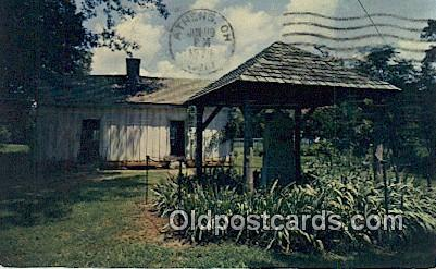 Well, Slave Quarters, Home of Helen Keller - Tuscumbia, Alabama AL Postcard
