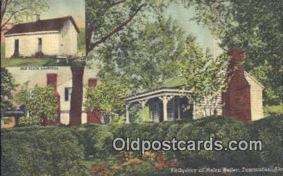 Helen Keller Home - Tuscumbia, Alabama AL Postcard