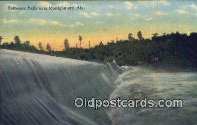 Tallassee Falls - Montgomery, Alabama AL Postcard