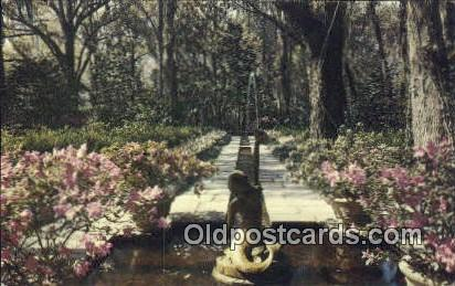 Mermaid Fountain, Bellingrath Gardens - Mobile, Alabama AL Postcard