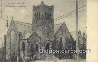 St Mary's Church - Birmingham, Alabama AL Postcard
