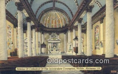 Cathedral of the Immaculate Conception - Mobile, Alabama AL Postcard