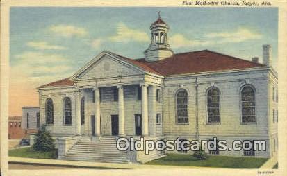 Firsth Methodist Church - Jasper, Alabama AL Postcard