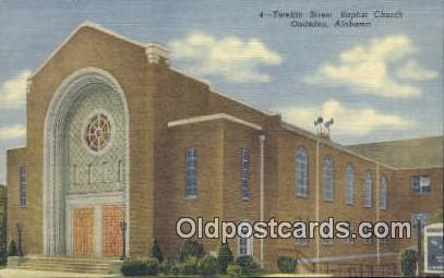 Twelfth Street Baptist Church - Gadsden, Alabama AL Postcard