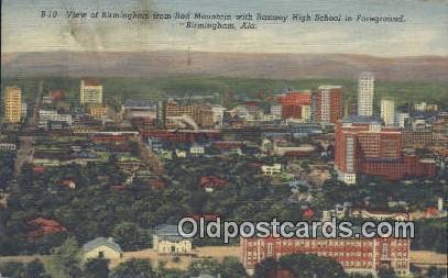 Red Mountain, Ramsey High School - Birmingham, Alabama AL Postcard