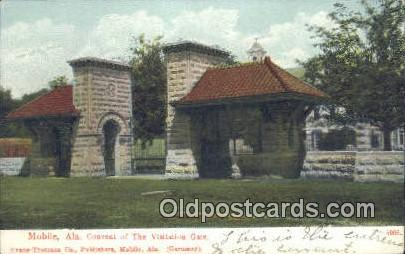Convent of the Visitation Gate - Mobile, Alabama AL Postcard
