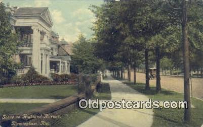Highland Ave - Birmingham, Alabama AL Postcard