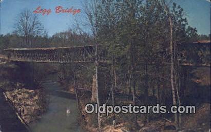 Legg Bridge - Cullman, Alabama AL Postcard
