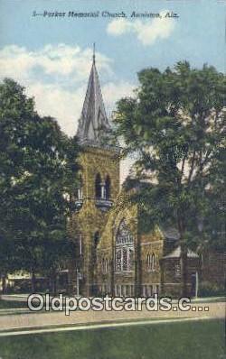 Parker Memorial Church - Anniston, Alabama AL Postcard
