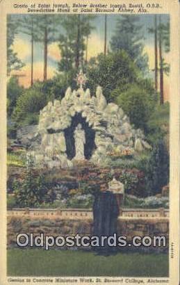 St Joseph, St Bernard College - St Bernard Abbey, Alabama AL Postcard