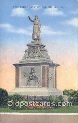 Emma Sansom Monument - Gadsden, Alabama AL Postcard