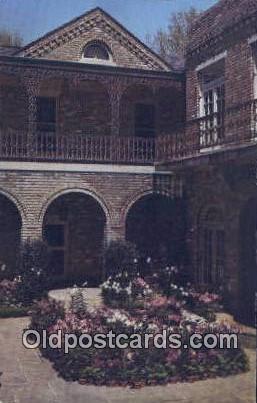 Court Yard, Bellingrath Gardens - Mobile, Alabama AL Postcard