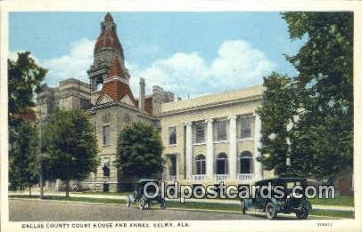 Dallas County Court House & Annex - Selma, Alabama AL Postcard