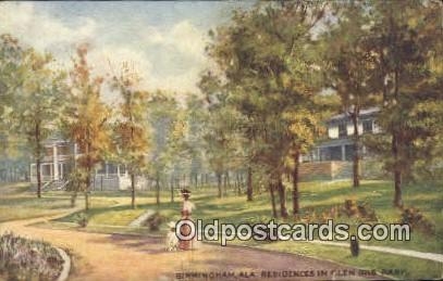 Residence, Iris Park - Birmingham, Alabama AL Postcard
