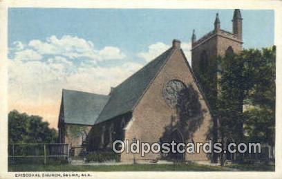 Episcopal Church - Selma, Alabama AL Postcard