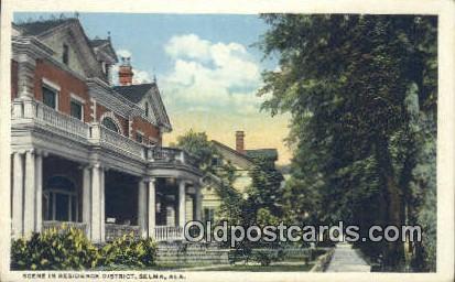 Residence District - Selma, Alabama AL Postcard