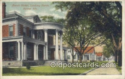 Church Street - Selma, Alabama AL Postcard