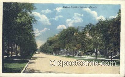 Dallas Ave - Selma, Alabama AL Postcard