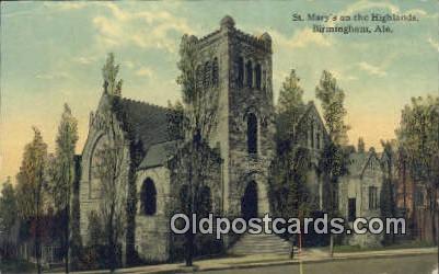 St. Mary's on the Highlands - Birmingham, Alabama AL Postcard